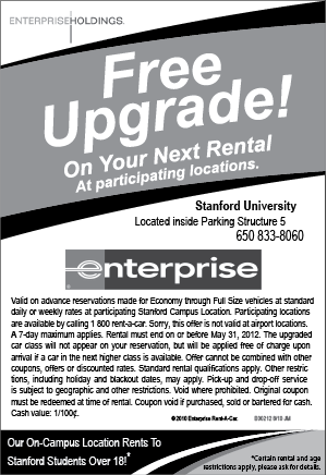Enterprise Rental Car Upgrade Coupon